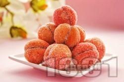 Слепени сладки прасковки с шипков мармалад - снимка на рецептата